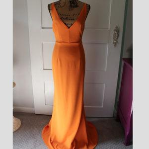 Lulus Melora Orange Sleeveless Maxi Dress